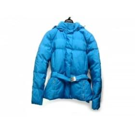【中古】 トミーヒルフィガー ダウンコート サイズS レディース ライトブルー ジップアップ/冬物