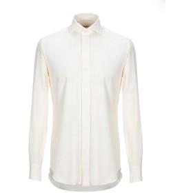 《期間限定 セール開催中》SALVATORE PICCOLO メンズ シャツ アイボリー 39 コットン 100%