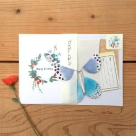 Pata-Pata蝶々 レターセット(Happy Birthday)