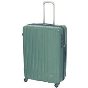 hands+ スーツケース ライトシリーズ ジップ 90L グリーン