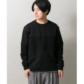 (ITEMS URBANRESEARCH/アイテムズ アーバンリサーチ)リバースパネルクルーネックTシャツ/メンズ BLK