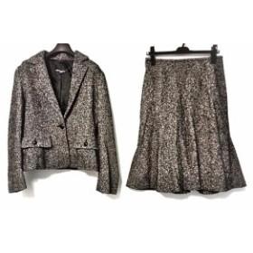 クリアインプレッション CLEAR IMPRESSION スカートスーツ サイズ3 L レディース 美品 黒×アイボリー【中古】