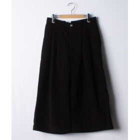 (LEVI'S OUTLET/リーバイス アウトレット)WIDE LEG PLEATED CROP 14W CORD NEW ULTRA/レディース ブラック