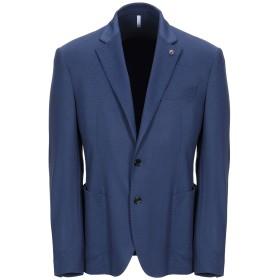 《期間限定セール開催中!》DOMENICO TAGLIENTE メンズ テーラードジャケット ブルー 46 ポリエステル 57% / レーヨン 37% / ポリウレタン 6%