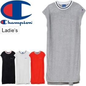 ワンピース 半袖 レディース チャンピオン Champion フレンチスリーブ ドレス スポーツカジュアル ワンポイント 女性 シンプル/CW-PS003