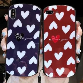 ラウンドハートツヤiPhoneケース iPhone6 6s 6Plus iPhone7 iPhone7Plus iPhone8 iPhone8Plus X xs xsmax xr