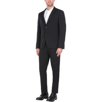《セール開催中》DOMENICO TAGLIENTE メンズ スーツ ブラック 56 ポリエステル 77% / レーヨン 19% / ポリウレタン 4%