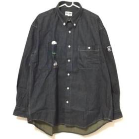 【中古】 シナコバ SINACOVA 長袖シャツ サイズL メンズ 美品 ネイビー マルチ 刺繍/LUPO DI MARE