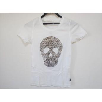 【中古】 マークアンドロナ 半袖Tシャツ サイズS レディース 白 ブラウン 黒 スカル/ラインストーン