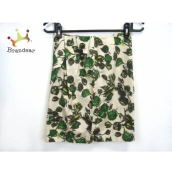 トゥモローランド スカート サイズ36 S レディース グリーン×ダークグレー×アイボリー スペシャル特価 20190820