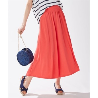 【吸汗速乾。UVカット】カットソーロングフレアスカート (ロング丈・マキシ丈スカート),skirt