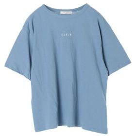[マルイ]【セール】ちびロゴ刺繍ビッグTシャツ/グリーンパークス(Green Parks)