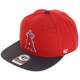 【Super Sports XEBIO & mall店:帽子】ロサンゼルス エンゼルス キャップ Red B-SRSTT04WBP-RD