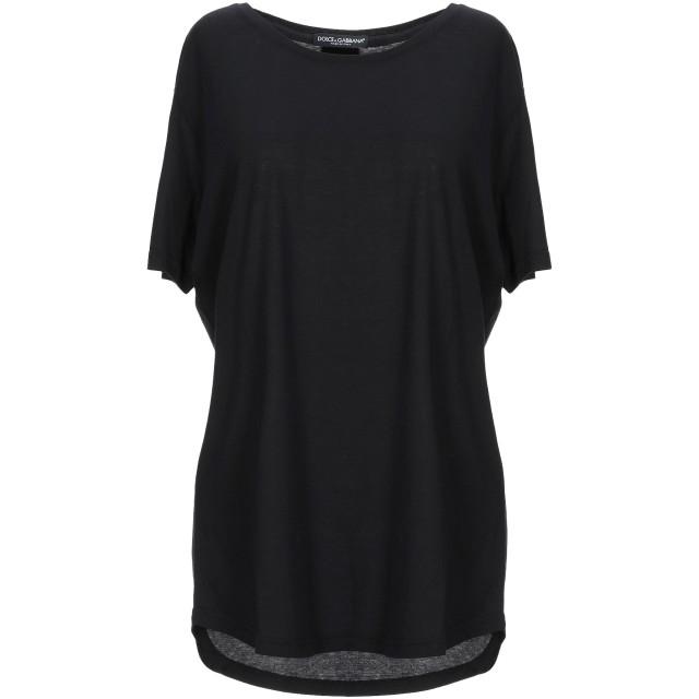 《セール開催中》DOLCE & GABBANA レディース T シャツ ブラック 38 コットン 100%