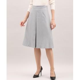 INED 《セットアップ対応》イージーフレアスカート ひざ丈スカート,グレー1