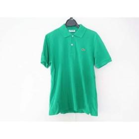 【中古】 ラコステ Lacoste 半袖ポロシャツ サイズ2 M メンズ グリーン