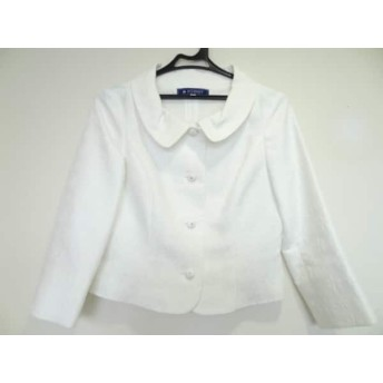 【中古】 エムズグレイシー M'S GRACY ジャケット サイズ38 M レディース 白 春・秋物/ラインストーン