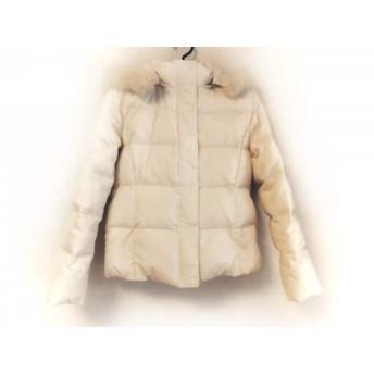 【中古】 エフデ ef-de ダウンジャケット サイズ11 M レディース アイボリー 冬物