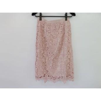 【中古】 ローズティアラ Rose Tiara ロングスカート サイズ42 L レディース 美品 ピンク 総レース