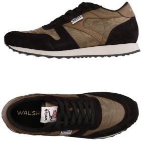 《セール開催中》WALSH メンズ スニーカー&テニスシューズ(ローカット) ブラック 7 革 / 紡績繊維