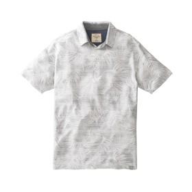 リーフ柄バックプリント半袖ポロシャツ ポロシャツ