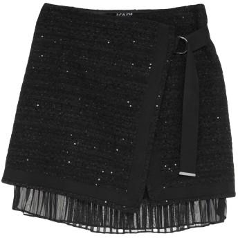 《9/20まで! 限定セール開催中》KARL LAGERFELD レディース ひざ丈スカート ブラック 44 ポリエステル 63% / アクリル 17% / ナイロン 13% / ウール 6% / 金属繊維 1%