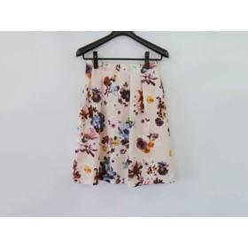 【中古】 ローズティアラ Rose Tiara スカート サイズ42 L レディース 美品 ピンク ブルー マルチ 花柄