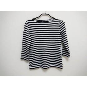 【中古】 マリメッコ marimekko 七分袖Tシャツ サイズS レディース 白 黒 ボーダー