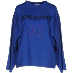 《期間限定セール中》SEMICOUTURE レディース T シャツ ブルー M コットン 100%