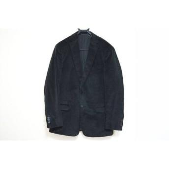 【中古】 ゼニア Zegna ジャケット サイズ50 メンズ 黒 ベロア