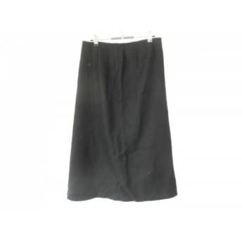 【中古】 レリアン Leilian ロングスカート サイズ11 M レディース 美品 黒