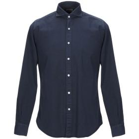 《期間限定 セール開催中》PORTOFIORI メンズ シャツ ダークブルー 42 コットン 100%