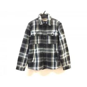 【中古】 アメリカンイーグル ブルゾン サイズXS メンズ 黒 グレー マルチ チェック柄/冬物