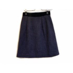 【中古】 ジャスグリッティー JUSGLITTY スカート サイズ1 S レディース パープル 黒 ツイード
