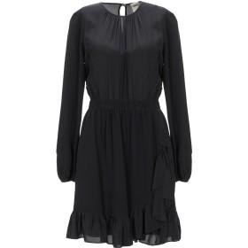 《期間限定セール開催中!》SEMICOUTURE レディース ミニワンピース&ドレス ブラック 40 シルク 100%
