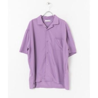 【64%OFF】 センスオブプレイス モダールオープンカラーシャツ(5分袖) メンズ PURPLE M 【SENSE OF PLACE】 【セール開催中】
