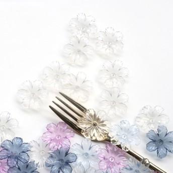 クリアフラワーアクリルパーツ*8個 夏 フラワー 花