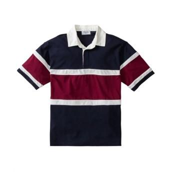 カノコ切替半袖ラガーシャツ(ビッグシルエット) ポロシャツ