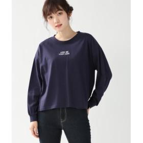 (Honeys/ハニーズ)ロゴプリントTシャツ/レディース ネイビー