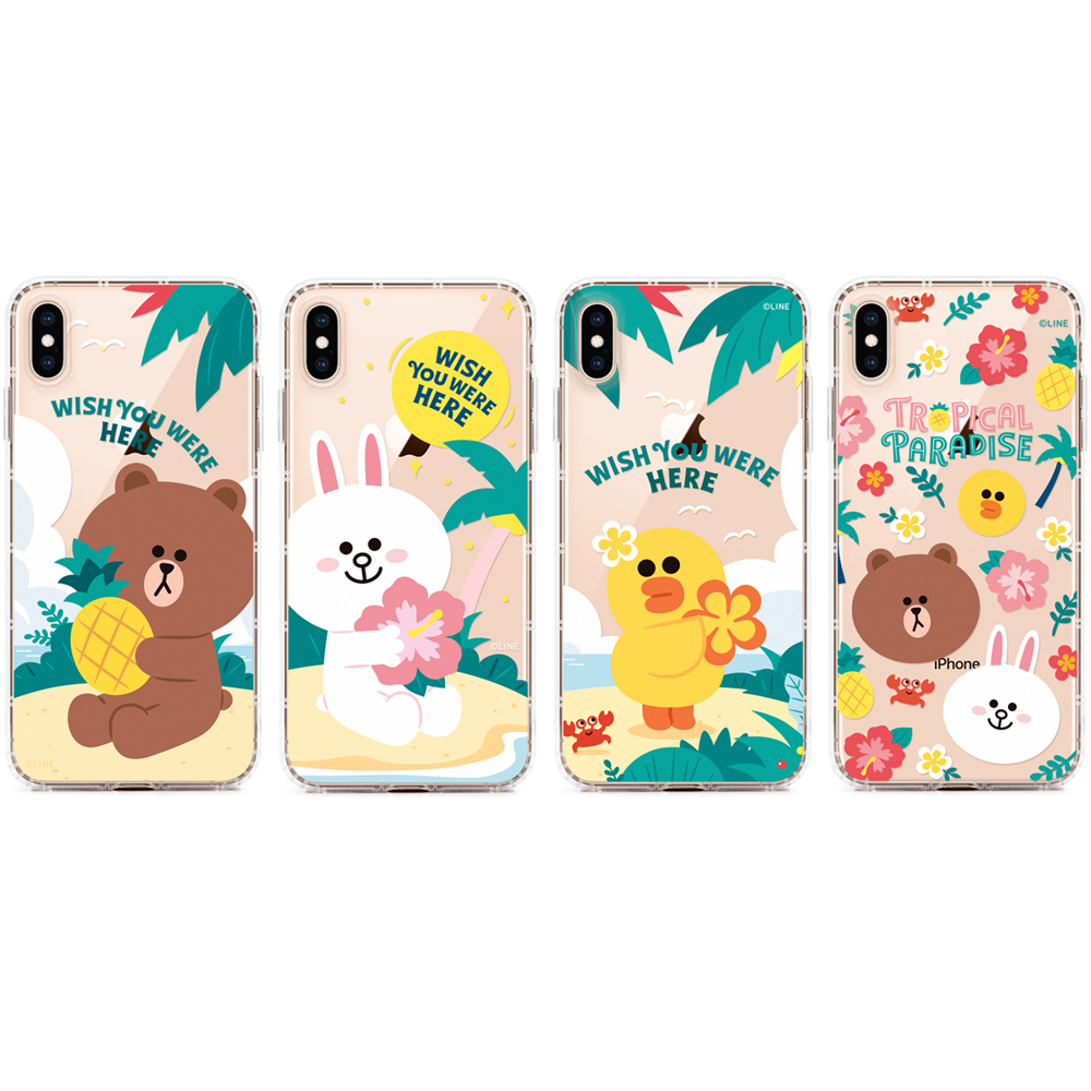 GARMMA LINE FRIENDS iPhone XS  MAX 6.5 / X/XS 5.8 / XR 6.1/ 7/8 Plus 5.5 防摔軟殼