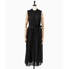 <ADAWAS/アダワス> SHEER BELTED DRESS(ADWS-807-37) BLACK 【三越・伊勢丹/公式】