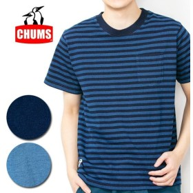 CHUMS チャムス Utah Pocket T-Shirt Indigo ユタポケットTシャツインディゴ CH01-1486 【メール便・代引不可】