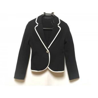 【中古】 アナイ ANAYI ジャケット サイズ38 M レディース 美品 黒 白