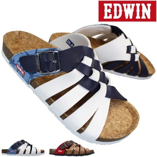 エドウィン EW9106 トリコロール メンズ サンダル フットベットサンダル コンフォートサンダル シューズ 靴 EDWIN 9106