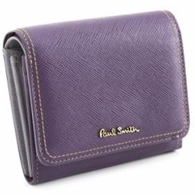 展示品箱なし ポールスミス 財布 二つ折り財布 紫(パープル) Paul Smith pww802-34 レディース 婦人