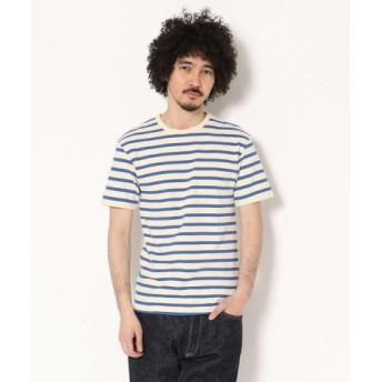 (AVIREX/アヴィレックス)AVIREX/アヴィレックス/デイリー テレコ ボーダーTシャツ/DAILY BORDER T-SHIRT/メンズ BLUE