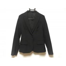 【中古】 セオリー theory ジャケット レディース 美品 黒 肩パッド