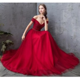 高品質 オフショルダー 半袖 優雅 パーティードレス お呼ばれドレス 素敵 スタイリッシュ フェミニン 成人式 二次会 結婚式 編み上げ