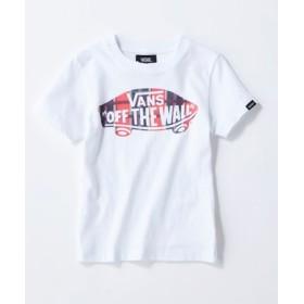 VANS ボードロゴチェックプリントTシャツ キッズ オフシロ