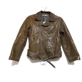 【中古】 ビューティフルピープル ライダースジャケット サイズ140 レディース ブラウン レザー